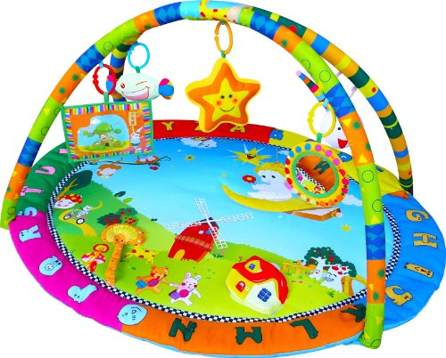 Gimnasio con alfombra musical de juegos y actividades para bebé - Diseño ángel feliz