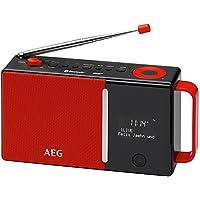 AEG DAB 4158DAB + Radio con FM PLL Radio, Bluetooth, AUX IN, RDS, funzionamento a batteria/batteria/alimentazione rosso/nero prezzi su tvhomecinemaprezzi.eu