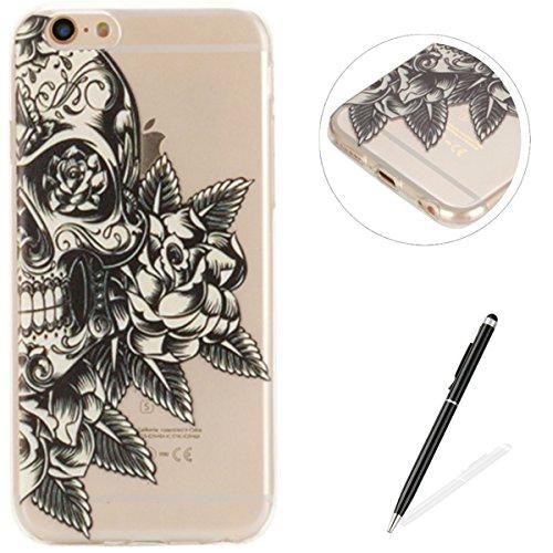 Black Skull Crystal Case (iPhone 6 Plus/6S Plus 5.5