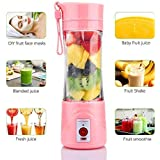 S&P TechoWorld - New Portable USB Juicer Blender with Stainless Steel Blade 380 ml Bottle with USB Charging Cable