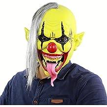 BIEE Máscara de Payaso con Pelo Halloween Clown Máscara, Máscara para Disfraz de Adulto Halloween