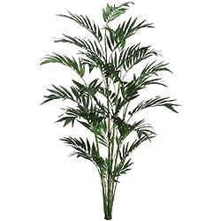 Allstate Künstliche Bambuspalme, 180 cm, Grün, 2 Stück