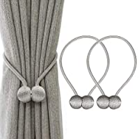 IHClink 2 Pieces Magnetic Curtain Tiebacks Curtain Clips Rope Holdbacks Curtain Weaving Holder Buckles For Home Office Decorative UK patent 6036254 (Grey)