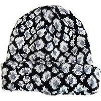 Gorros Gorro De Sombreros Gorras Calentar Cálido Unisex Beanie Leopardo De Las Mujeres Otoño Y El Invierno De La Moda del Sombrero Caliente ZHANGGUOHUA (Color : Blanco)