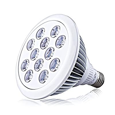 Aglaia E27 LED Grow Light in 12W, 12 LEDs in Scientific 3 Bands (660nm and 630nm Red and 460nm Blue), Efficient Plant Growing Lights for Hydroponic Garden Greenhouses