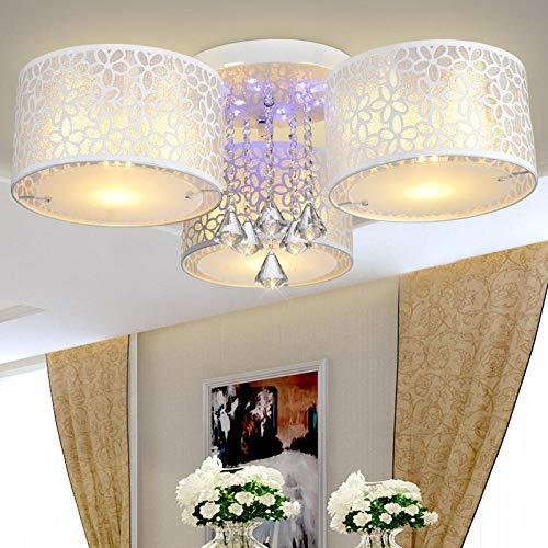 led deckenleuchte moderne minimalistische aluminium schlafzimmer lampe wohnzimmer balkon küche bad esszimmer deckenleuchte-3 köpfe_Weißgas edelstahl farbe licht intelligentes dimmen fernbedienung -