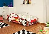 Autobett Junior in zwei Farben mit Lattenrost und Matratze 70x140 cm Top...