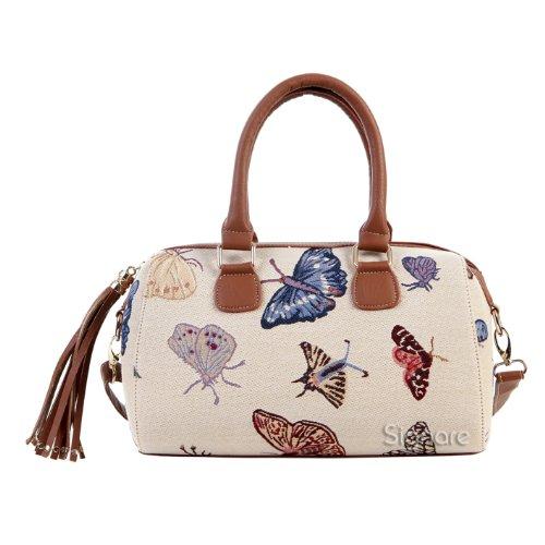 Signare sac d'épaule à poignée tapisserie mode femme Papillon