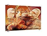 Spritzschutz Brotvielfalt B x H: 80cm x 60cm von Klebefieber®