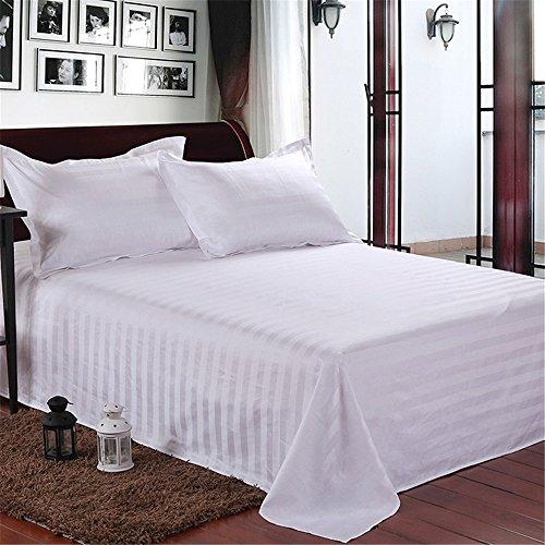 Ccsyso Weiße Baumwolle Bettwäsche Satz von Vier, Hotel Bettwäsche Verschlüsselung Bettwäsche, Fluu, Königin, König. (Size : Queen) (Hotel-bettwäsche-satz)