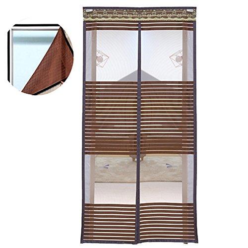 Liveinu zanzariera magnetica per porte finestre tenda zanzariera con magneti rete anti zanzare zanzariera strisce laccio adesivo fotogramma intero versione caffè 100x240cm