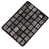 Hosaire Moda Imagen de placa de impresión estampación sellos placa manicura Nail Art decoración de uñas