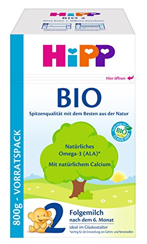 Hipp 2 Bio-Folgemilch, 1er Pack (1 x 800g)
