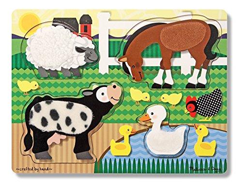 Melissa & Doug - 4327 - Puzzle - Relief - Animaux de la Ferme