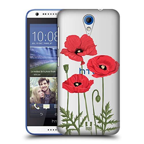 Head Case Designs Rote Mohnblumen Rosen Und Wildblumen Ruckseite Hülle für HTC Desire 620/620 Dual SIM