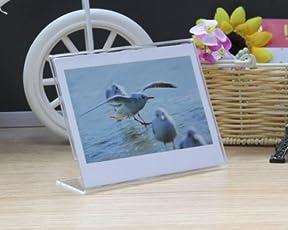 DSstyles 0019_101 Acrylic Stand Wide Fujifilm Instant Mini Photo Frame for Fujifilm Instax Mini 210 Films