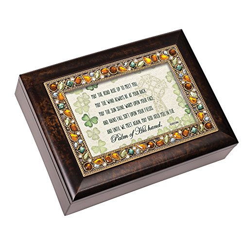 Cottage Garden May The Road Rise Shamrock Smaragd Jeweled Jewelry Musik Box Spielt Irish Eyes Smiling