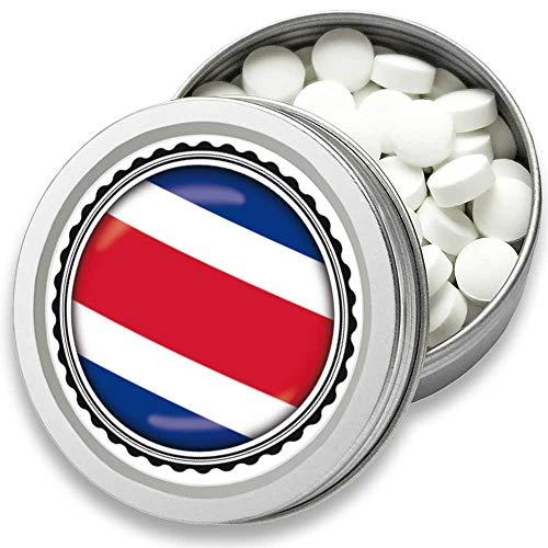 FAN Mint | 3er Set Pfefferminz Bonbons mit Costa Rica Flagge | Geschenk, Souvenir Costa Rica Fahne | Fan-Artikel, Party Deko (Costa Rica) -