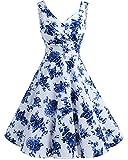 Best Blues Vintage - Bridesmay Robe courte vintage rétro Audrey Hepburn années Review