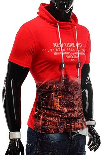 T-Shirt Silverton City ID1217 High Neck (4 Farben) Rot