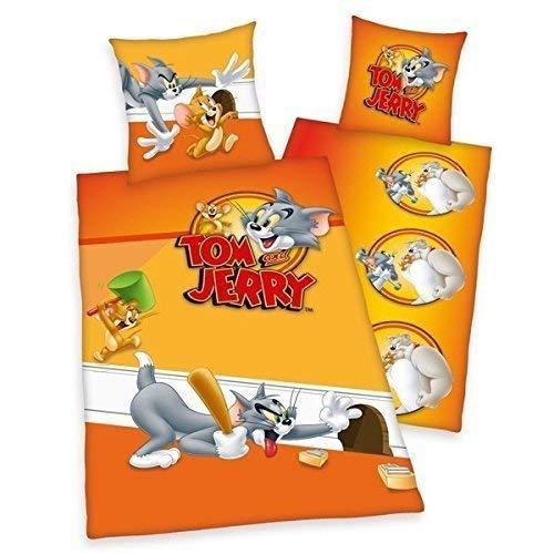 Tom & Jerry Bettwäsche Herding Katze Maus Fotodruck 135 x 200 cm Geschenk Cool Wow - All-In-One-Outlet-24 -