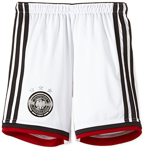 adidas Kinder kurze Hose DFB Home Shorts Youth Nationalmannschaften, weiß/schwarz, 176 (Hose Brasilien Fussball)