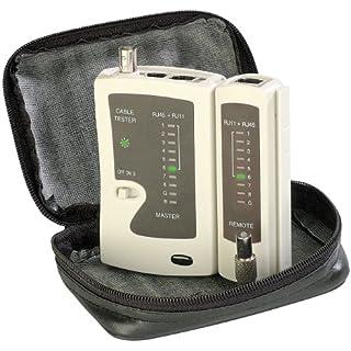 7links Netzwerkkabel Tester: 3in1-Kabeltester für RJ-45, RJ-11 und BNC (LAN Kabeltester)