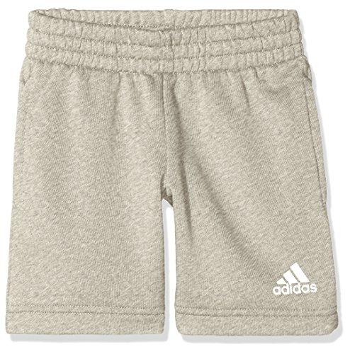 adidas Jungen Logo Shorts 1/4, Medium Grey Heather/White, 128