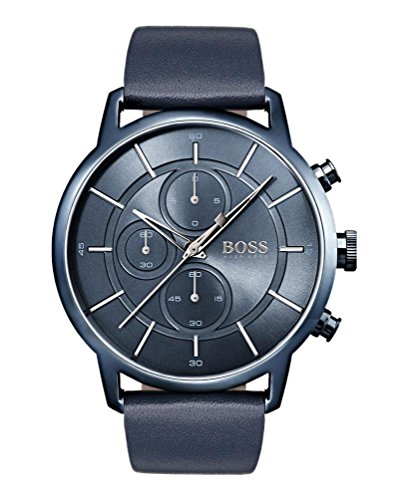 Hugo BOSS Unisex-Adult Chronograph Quartz Watch with Leather Strap 1513575