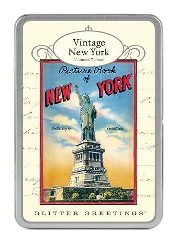"Cavallini ""Glitter Greetings, Vintage New York"", Postkartenset mit 12 Karten"