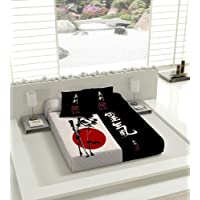 TSUKI Colcha multipunto NAGASAKI cama Zen Chillout japonesa 100% algodón (Cama 90)