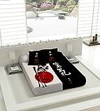 TSUKI Colcha multipunto NAGASAKI cama Zen Chillout japonesa 100%