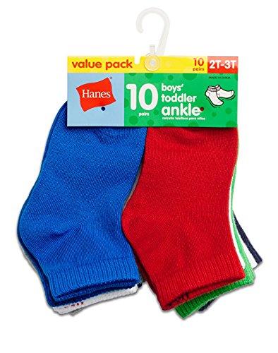 Hanes Boys` Toddler Ankle Socks