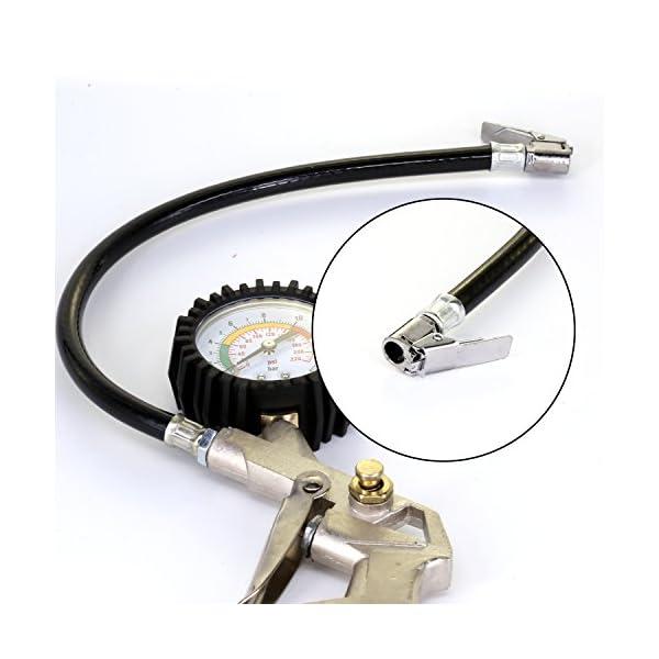 Neumático inflador Manómetro con Empuñadura Pistola 12V Compresor de aire Michelin 300psi Coche Bomba de Neumático…