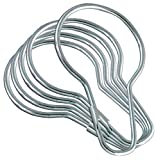 Bulk Hardware BH03121 Metal Shower Curtain Ring, Bright Zinc Plated - Pack of 12
