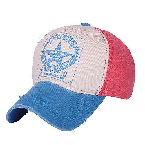 Trada Unisex Baseball Cap, Mode Frauen Männer Einstellbare Baseballmütze Hysteresenhut Hip-Hop Mesh Cap Schatten Basecap Sonnen Kappe,Sport und Reisen (A)