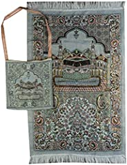 Islam Portable Muslim Prayer Mat with Shoulder Bag Thin Sajjadah Janamaz AMN-164 Sajadah Carpet Chenille Woven