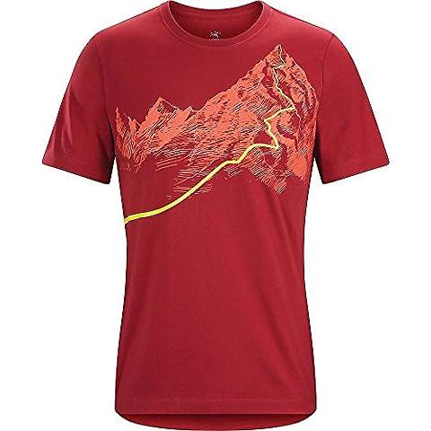 Arc'teryx Mens afterglo HW SS T-shirt L Volcan