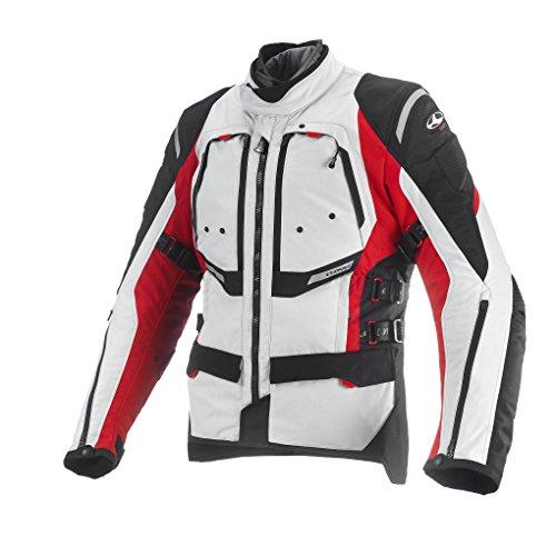 *Clover Herren Motorradjacke Airbag Kompatibel, Rot/Weiß, XXL*
