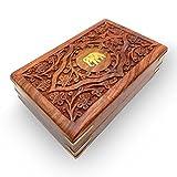 Khandekar (with device of K) Hölzerne handgemachte Inlay & Carving Elefant Schmuckschatulle, Vintage-Box, Hochzeit Geschenk-Box, Schmuck Trinket Box, Damen Schmuck Organizer - 6 X 4 Zoll