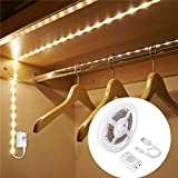Rechargeable Wardrobe Lights, LUXJET 1M 30LED LED Strip Lights,Motion Sensor Activated,Auto on/Off