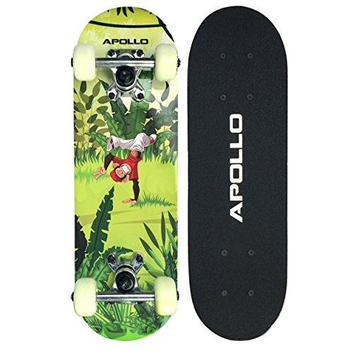 Apollo Kinderskateboard Monkey Man, kleines Skateboard für Kinder, 51 cm lang