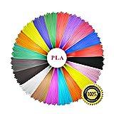 3D Penna Filamento,Filamenti Penna PLA 1.75mm confezione 6 pezzi colore giallo verde rosso blu bianco nero