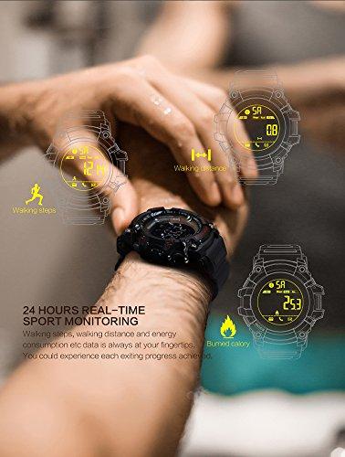 iMusk EX16 Smart Watch Men Sport Watch 5ATM Waterproof Bluetooth 4.0 SmartWatch Pedometer Call reminder Stopwatch