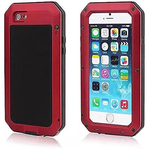 iPhone 7 Case,AIYIBEN di tutto il corpo Heavy Duty iPhone robusta 7 Caso Scratch Proof / scossa caso assorbente per Apple iPhone 7 (4.7 pollici) (Red)