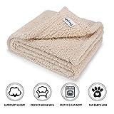 furrybaby Premium Flauschige Fleece Hundedecke,Weiche und Warme Hündchen Decke für Hund und Katze (M 75x100cm, Beige)