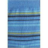 GRÖDO Kinder Ringel Socken Bio-Baumwolle/Elasthan, Blau/Türkis/Stachelbeere/Marine, Gr. 31-34 (7-8)