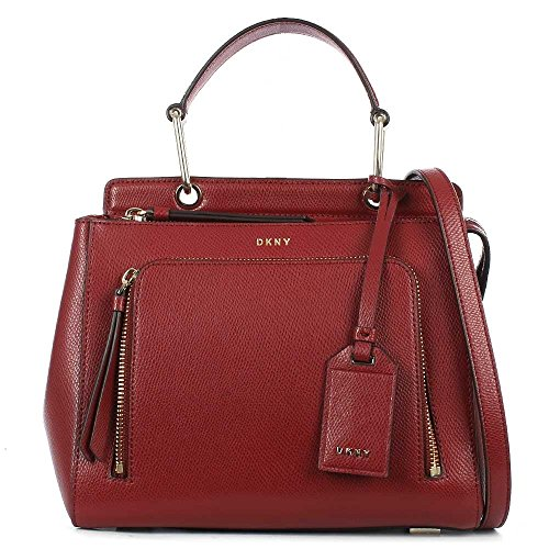 dkny-bryant-ecarlate-cuir-petit-satchel-sac-red-leather