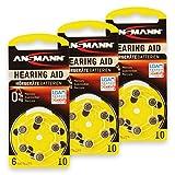 18 ANSMANN Hörgerätebatterien/3x6er Packung Zink...
