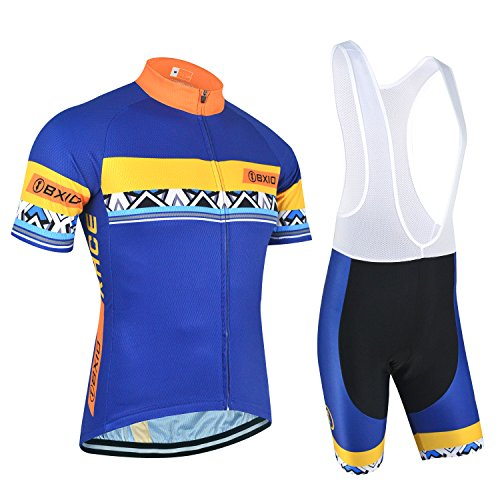 BXIO Quick-Dry Cycling Jerseys – Breathable Short Sleeve Bike Uniform with  3D Gel Pad Bib Shorts for Pro Bicycle Clothing 145 41b02505f